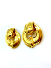 Givenchy Gold Statement Door Knocker Vintage Earrings-Earrings-Givenchy-[trending designer jewelry]-[givenchy jewelry]-[Sustainable Fashion]