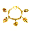 Oscar de la Renta Gold & Brown Leaf Charm Stacking Bracelet-Bracelets-24 Wishes