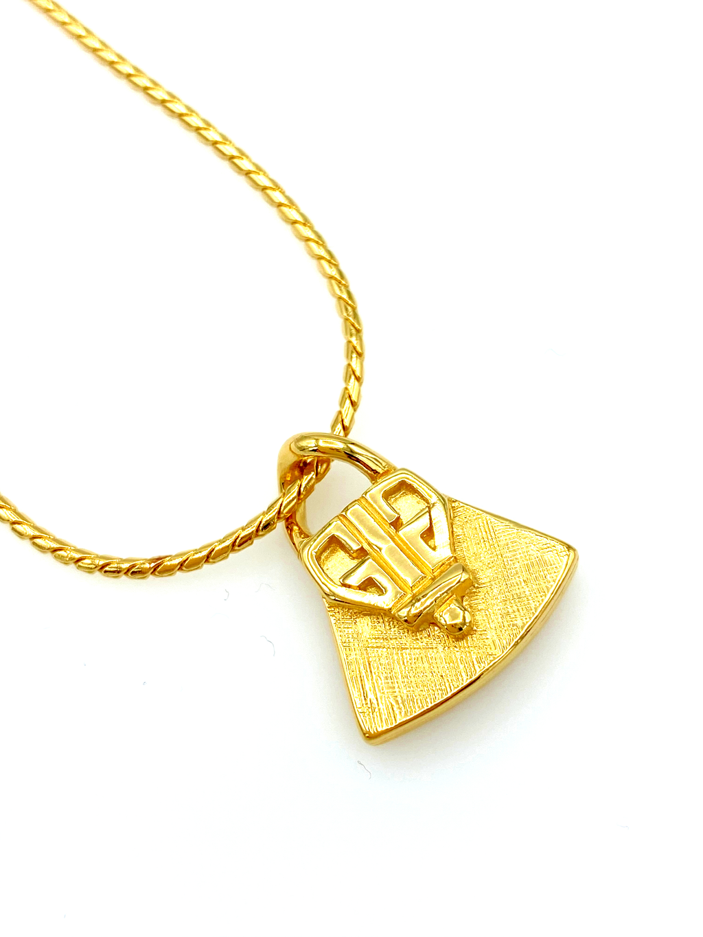 Gold Givenchy G Logo Charm Stacking Chain Bracelet-Sustainable Fashion with Vintage Style-Trending Designer Fashion-24 Wishes