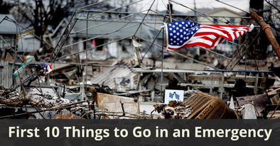 THE FIRST 10 THINGS TO GO IN AN EMERGENCY: WHAT YOU WON'T FIND ON THE SHELVES