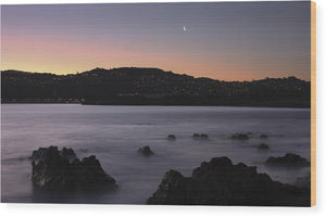 Moon Over The Bay - Wood Print