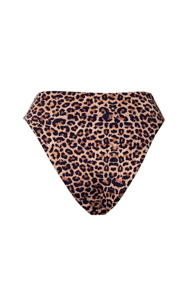 The Midi High-Cut Bottom in Leopard Print