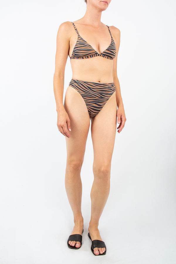 The Midi High-Cut Bottom in Abstract Tiger Print