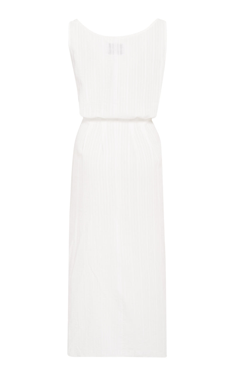 The D.K. Midi Dress in Sheer Daddy Crepe Linen