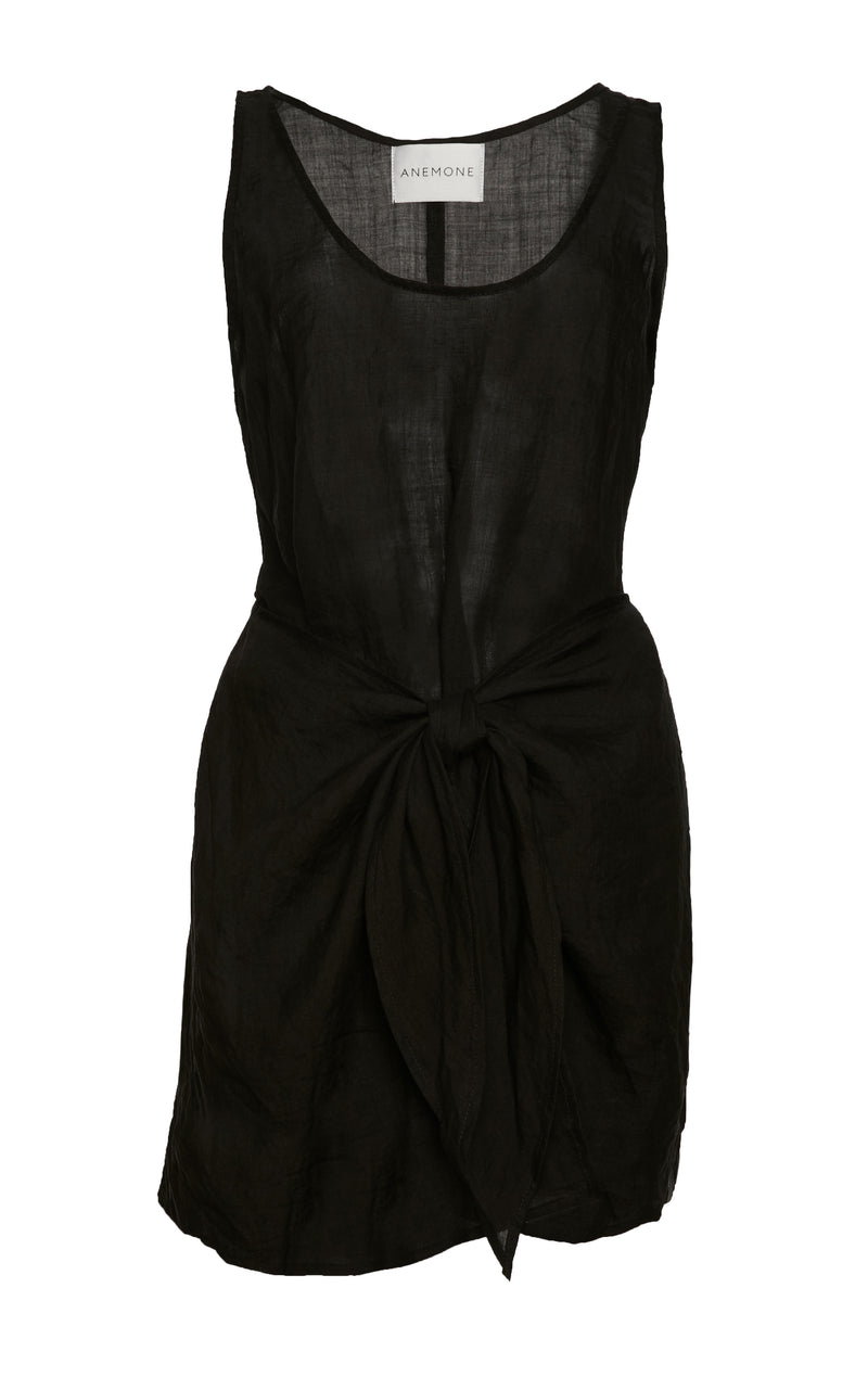 The D.K. Mini Wrap Dress in Sheer Ramie