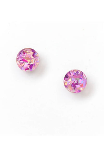Mini Circle Stud Earrings | Mauve