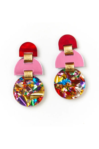 Half Moon Earrings | Rainbow