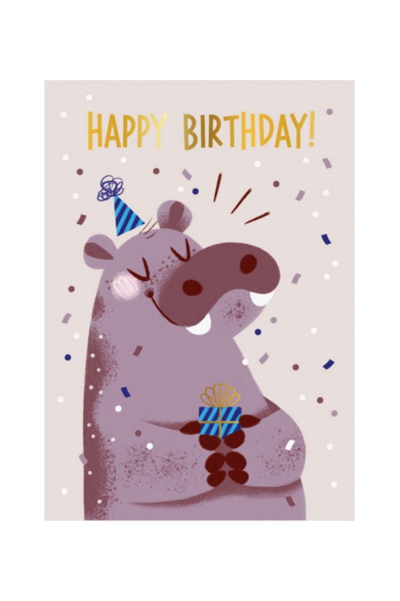 Greeting Card | Happy Birthday Hippo
