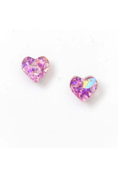 Heart Stud Earrings | Mauve