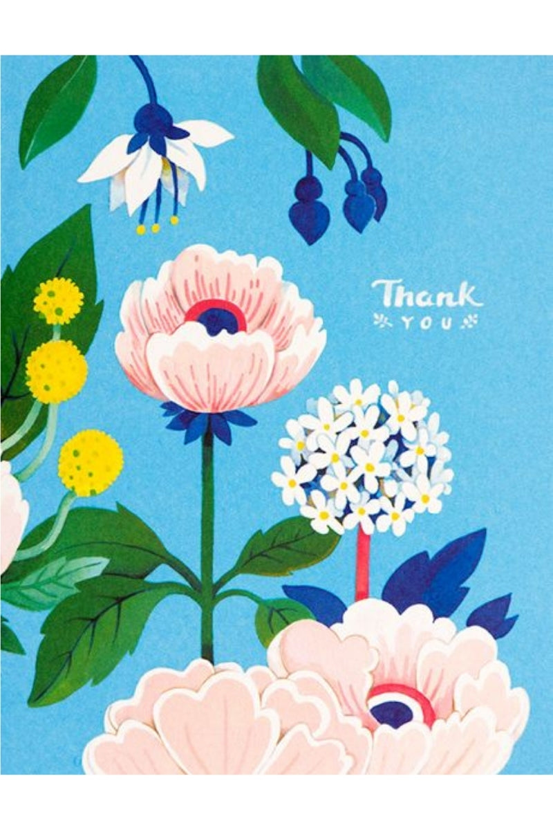 Greeting Card | Blue Floral Thank You