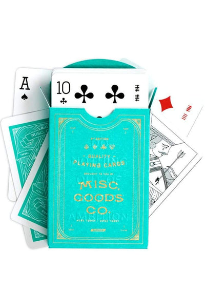 Misc. Goods Co. Playing Cards - Green