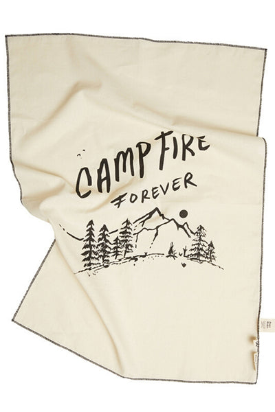 Camp Fire Forever Tea Towel