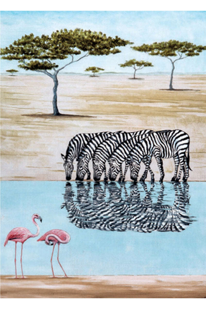 Greeting Card | Dazzle Of Zebras