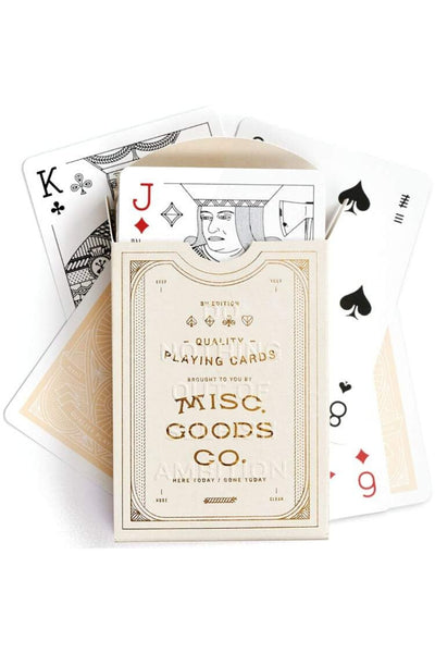 Misc. Goods Co. Playing Cards - Ivory