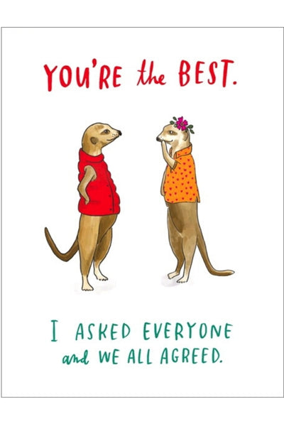 Greeting Card | You're The Best