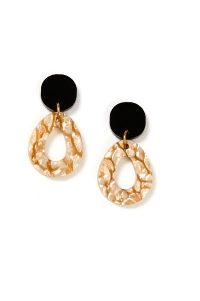 Tempest Earrings | Black/Oyster