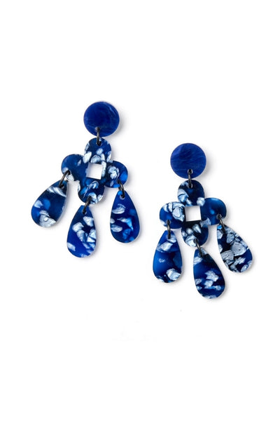 Zara Earrings | Dark Blue