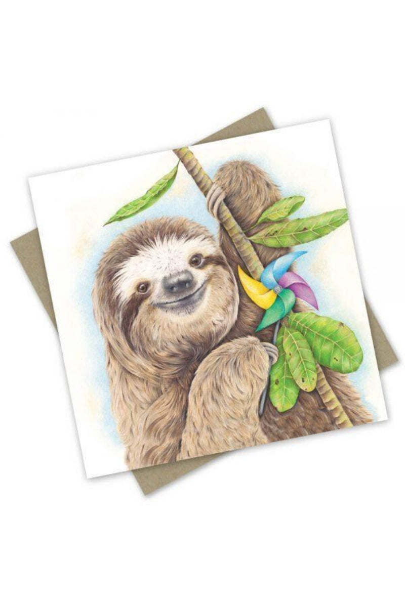 Greeting Card | Party Sloth