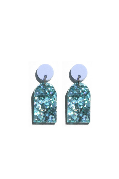 Arc Earrings | Violet Turquoise