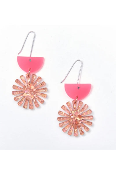 Star Drop Earrings | Neon/Pink