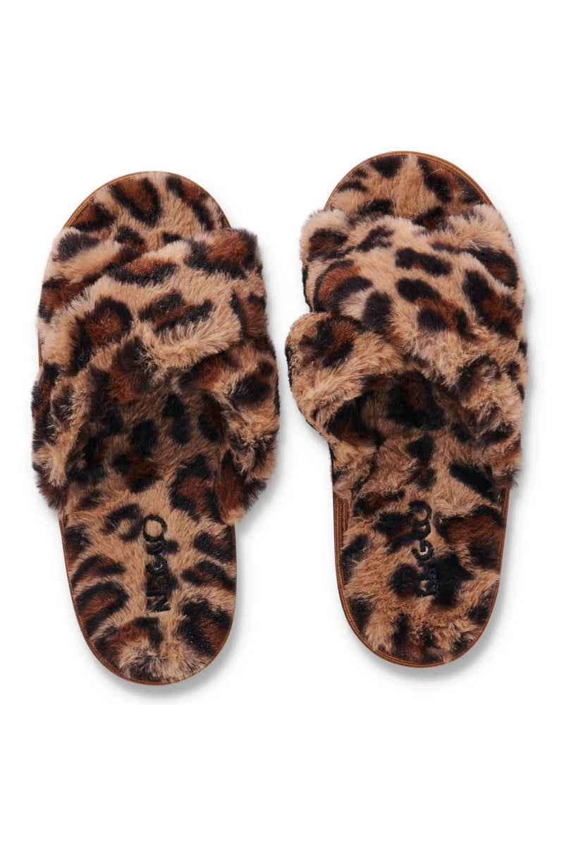 Natural Leopard Slippers