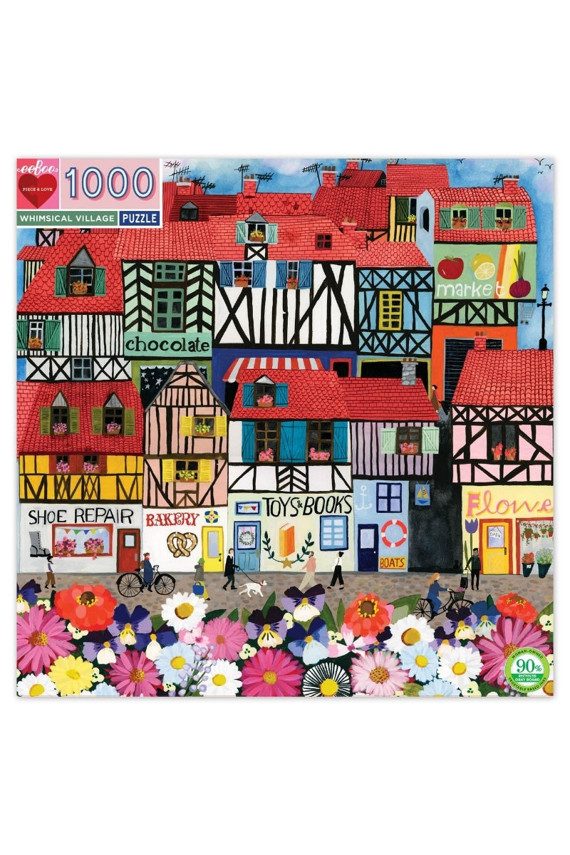 eeBoo 1000 Pc Puzzle - Whimsical Village