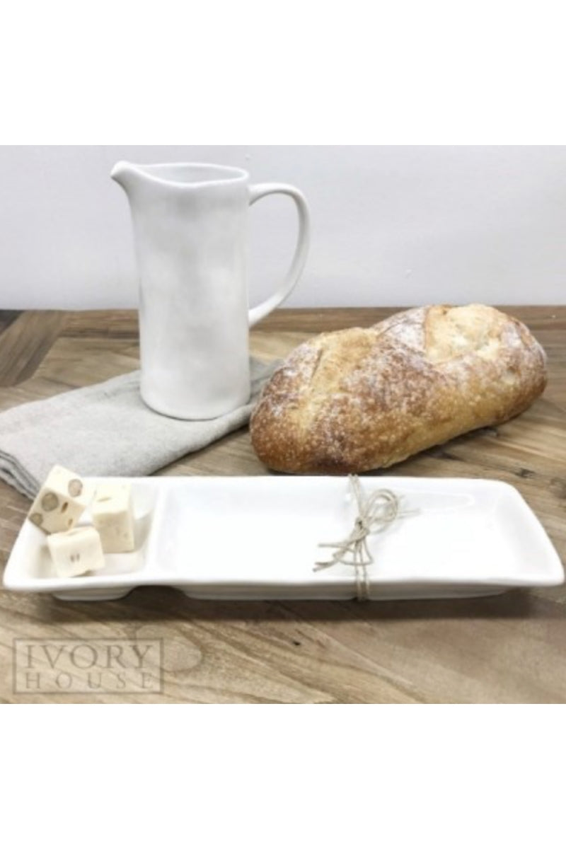 Olive/Dip Rectangle Plate 29cm