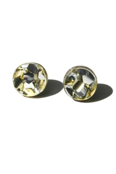 Mini Circle Stud Earrings | Gold