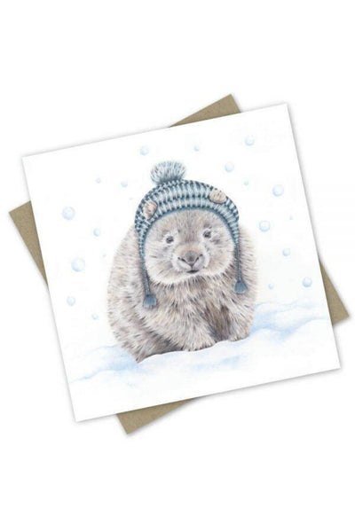 Greeting Card | Winter Wombat