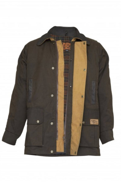 Darwin Oilskin Jacket | Brown