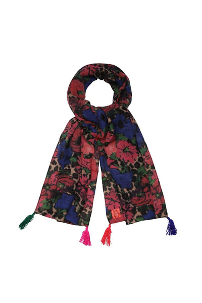 Jungle Print Scarf | Red