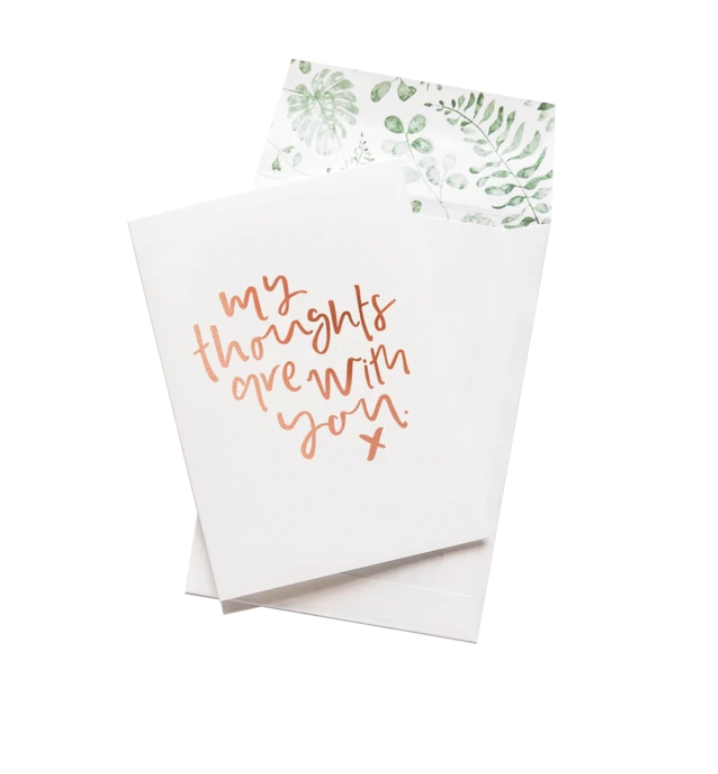 Greeting Card | Thoughts Are With You