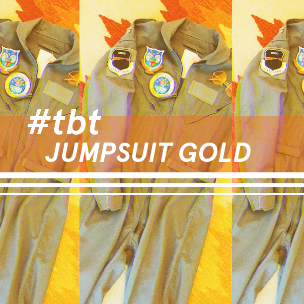 #TBT Jumpsuit Gold