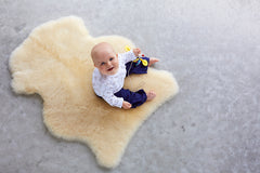 Honey Sheepskin Play Rug