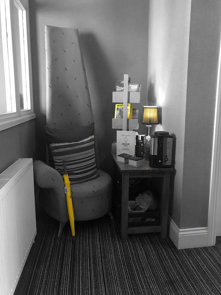 Yellow umbrella in the Urban Beach Hotel