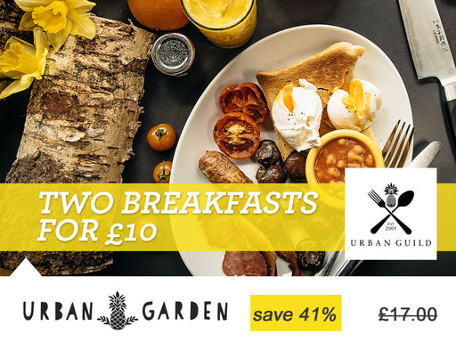Two breakfasts for £10 at Urban Garden