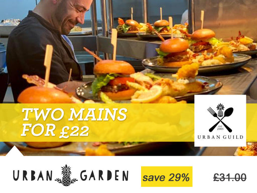 Two mains for £22 at the Urban Garden