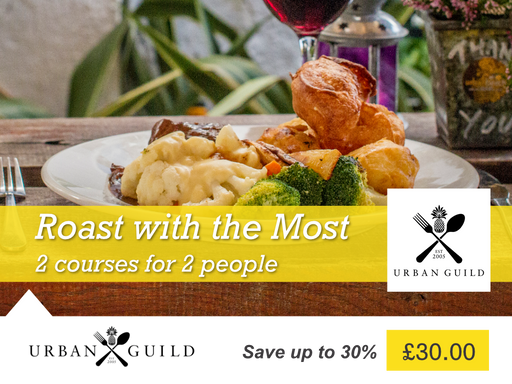 Roast with the most - 2 course roast for two at Urban Guild