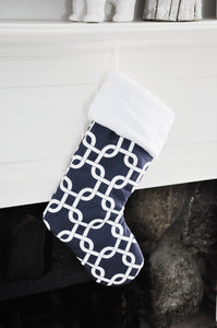 Navy Blue Holiday Stockings