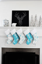 Coastal Blue Christmas Stockings Sea Friends & Sea Horse