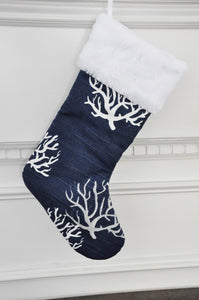 Navy Christmas Stockings in Sailor, Sea Friends and Isadella