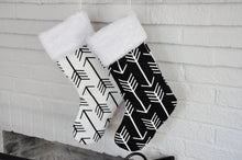 Arrow Stocking in Black and White