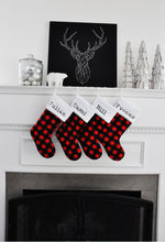 Red and Black Buffalo Check Christmas Stocking