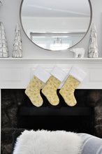 Gold Stained Glass Hanukkah Stocking