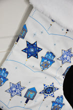 Peace, Love and Light Hanukkah Stocking