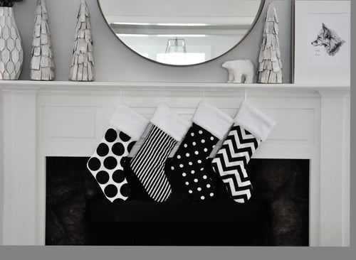 Black and White Holiday Decorations
