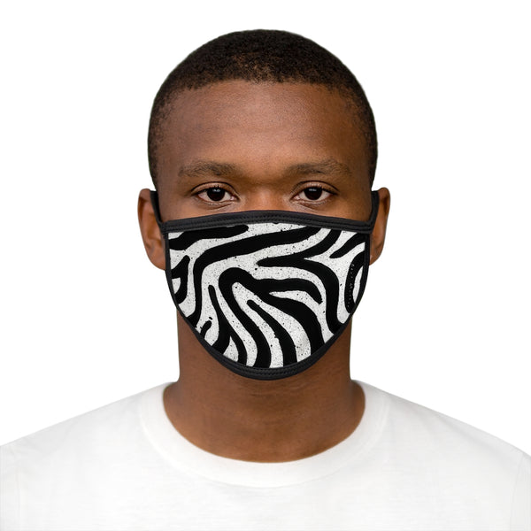 Zebra Mixed-Fabric Face Mask