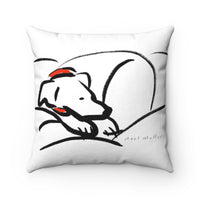 Sleepy Dog Square Pillow Case