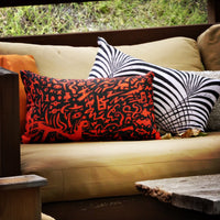 Red Zone Square Pillow