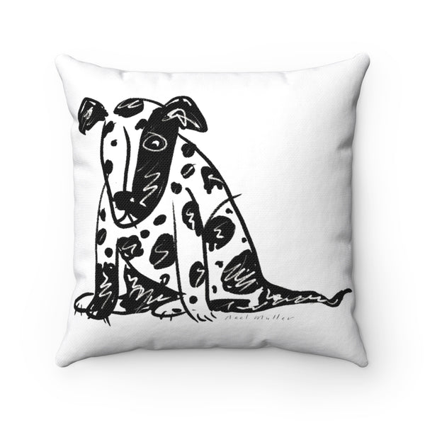 Spotty Dog Square Pillow Case